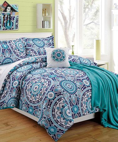 Blue Emblem Four Piece Twin Xl Comforter Set Comforter Sets Bedroom Decor Twin Xl Comforter