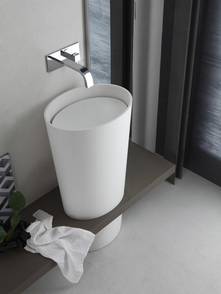 Countertop oval ceramic washbasin Roll Line by CERAMICA FLAMINIA ...