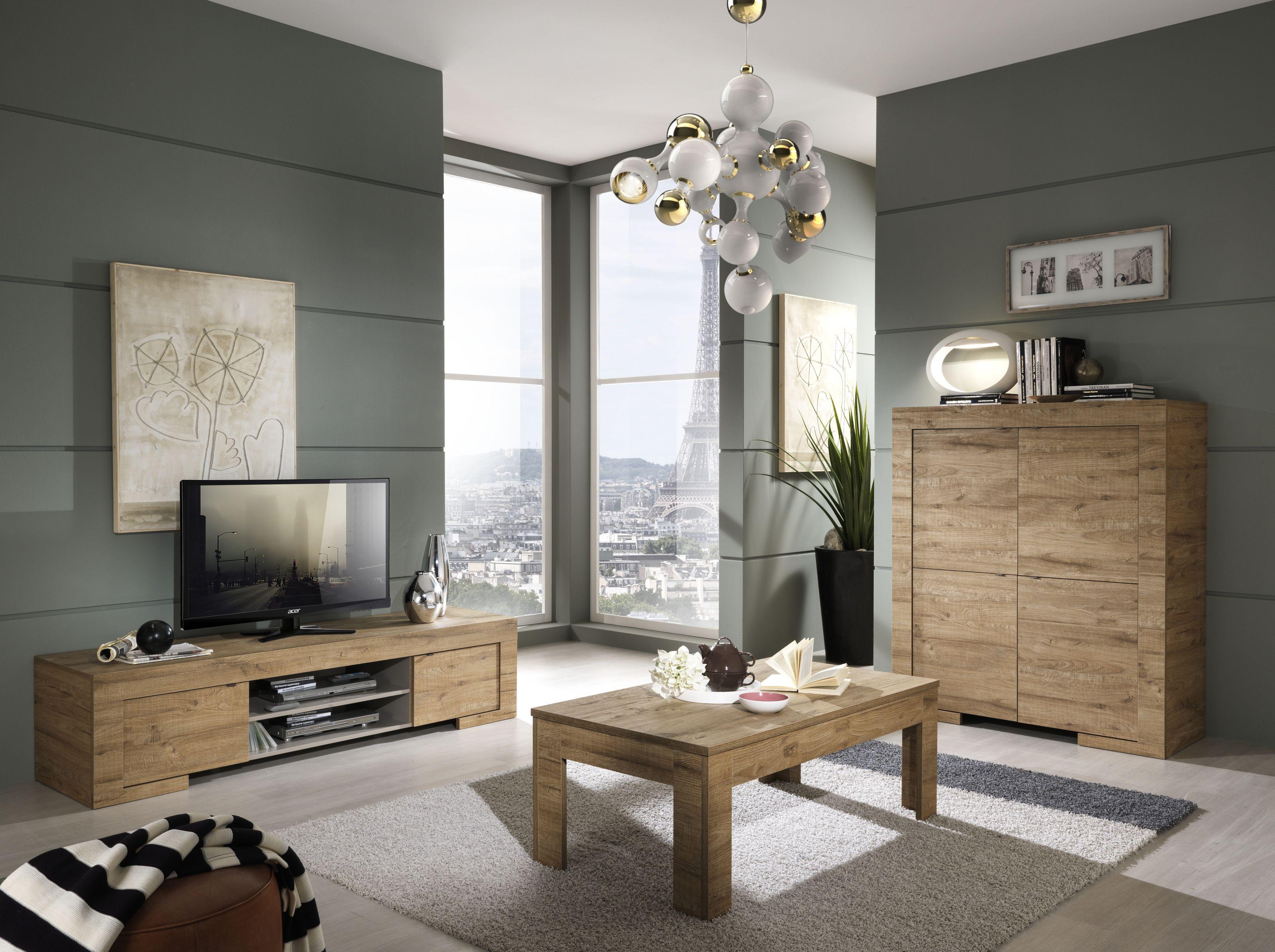 Wohnzimmer Eiche Natur Nachbildung Woody 12-00888 Holz modern Jetzt ...