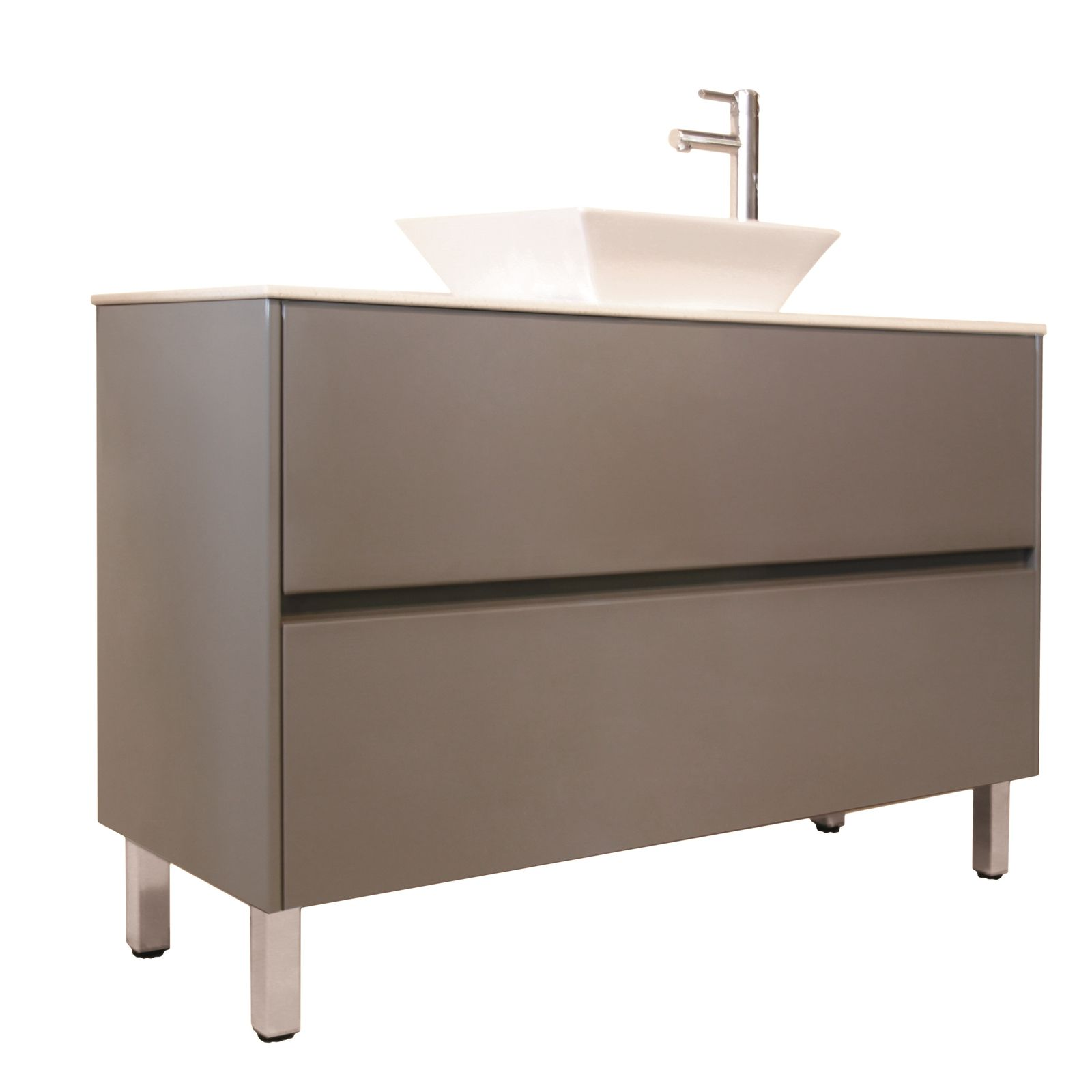 Forme 1200mm Quay Floor Vanity with Stone Iron Ore Cubo | wendy