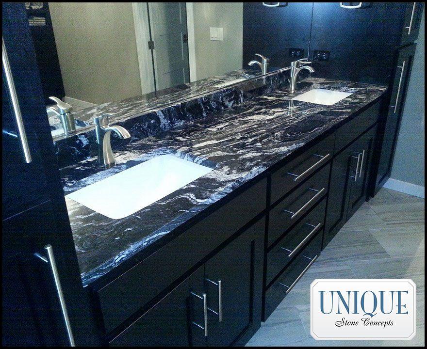 Atacama black granite bathroom vanity you can find for Where can i find bathroom vanities