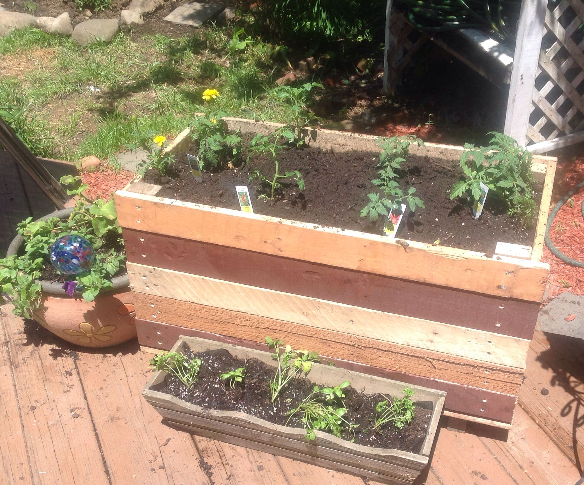Tomato Planter Out Of Upcycled Pallet Tomato Planter 400 x 300