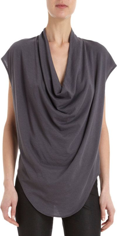 HELMUT Cowl Tee at Barneys.com
