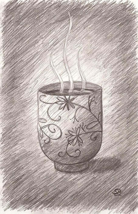 pencil tea japanese sketch teacup tattoo visit drawings sketches draw