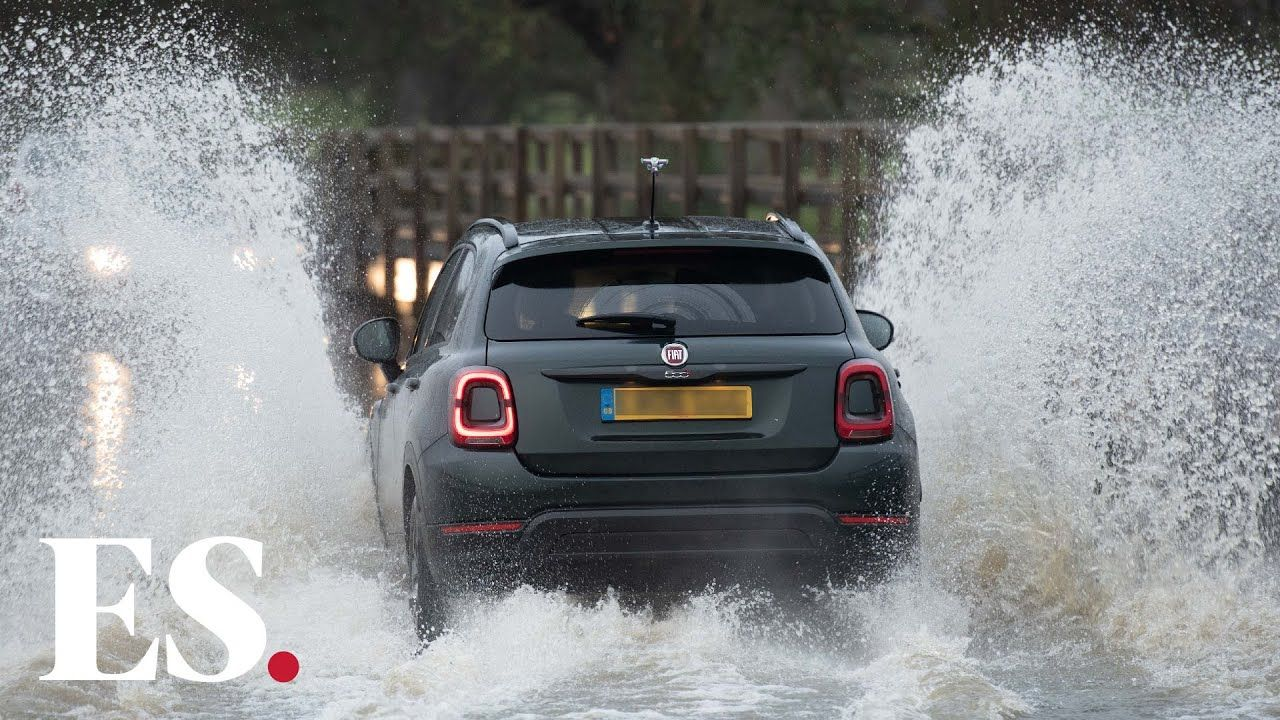 M23 flooding sussex roads closed on busiest christmas