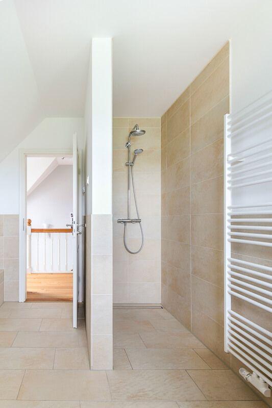 Dusche Bodengleich Gemauert   Badezimmer Ideen Inneneinrichtung ECO Haus  Friesenhaus Hamburg   HausbauDirekt.de