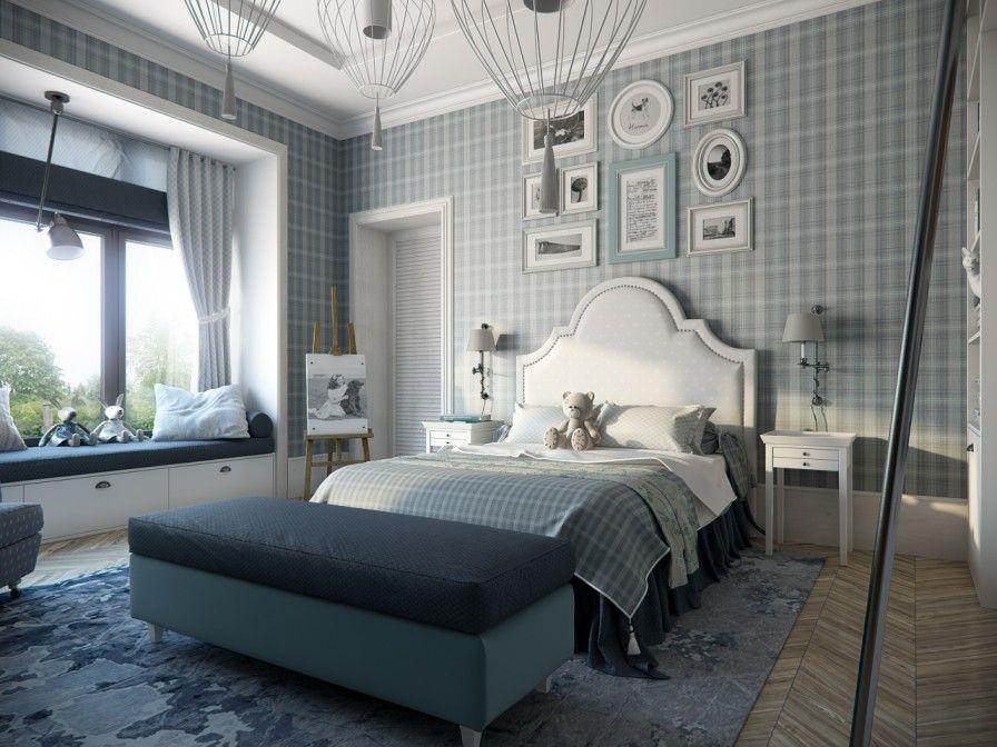 Bedroom Designers Гостиница  Detskaya  Pinterest  Plaid Wallpaper Bedrooms And