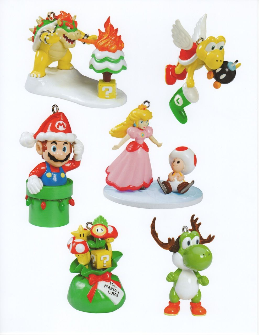 Christmas themed Mario ornaments..cute! | Jaaryn | Pinterest ...