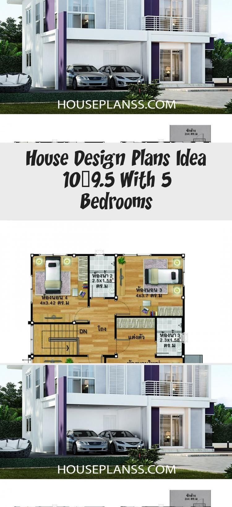 House Design Plans Idea 10x9 5 With 5 Bedrooms Home Ideassearch Floorplans4bedroomcourtyard Floorplans4bedroomra In 2020 Home Design Plans House Design Floor Plans