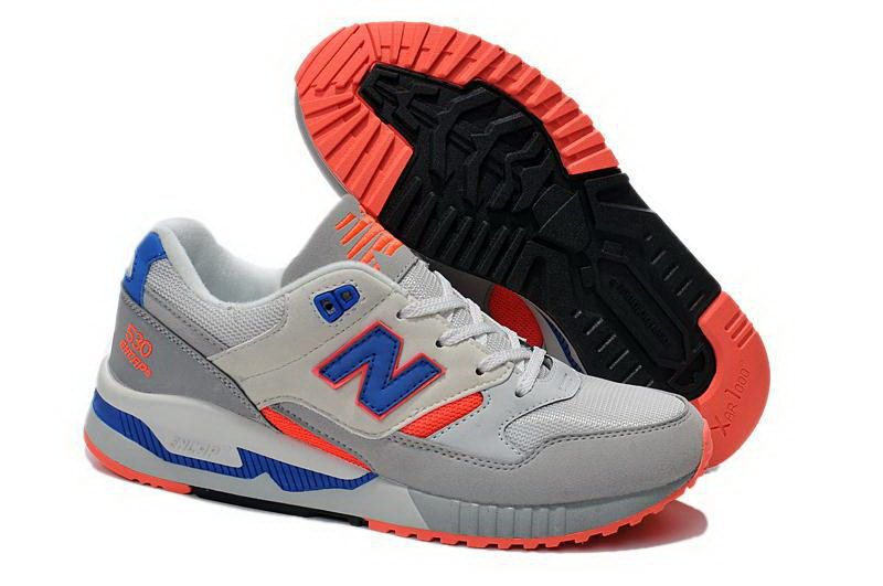 New Balance 530 90s Running Collection W530MD - Grey Orange Blue Mesh