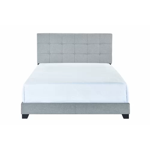 Finnigan Tufted Upholstered Low Profile Standard Bed In 2021 Panel Bed Grey Upholstered Bed Bed