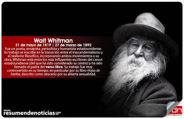 #Fallecimiento | #WaltWhitman - #Escritor #USA