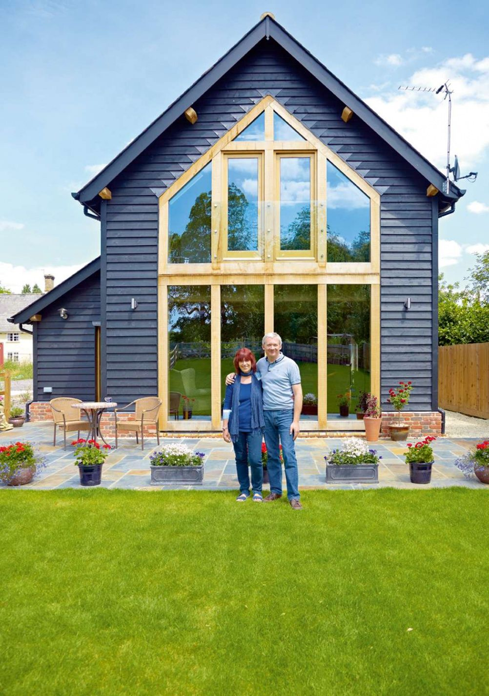 A Picturesque Oak Frame Barn Style Self Build Home In