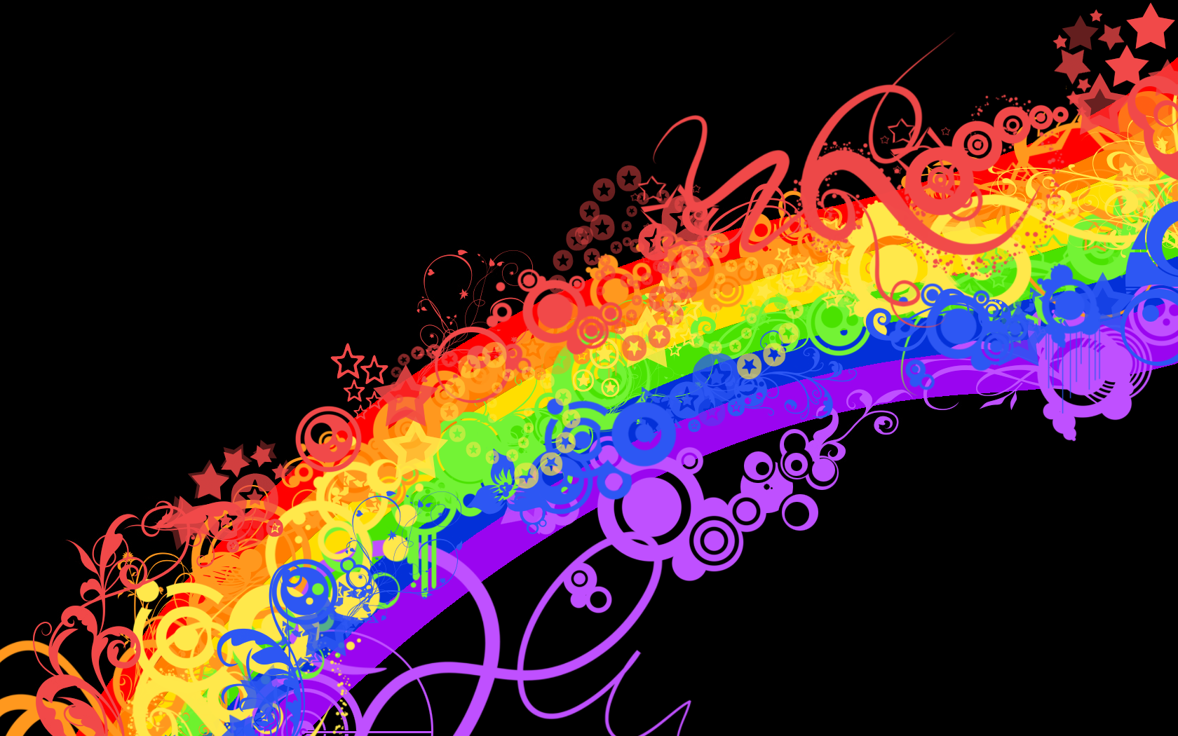Music vector art colorful wallpaper free download png - Rainbow Vector On Black Background
