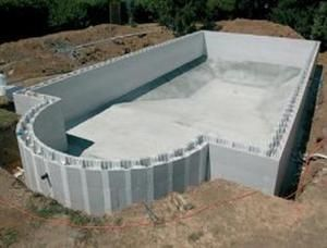 How to build a concrete block swimming pool Concrete swimming pool construction methods