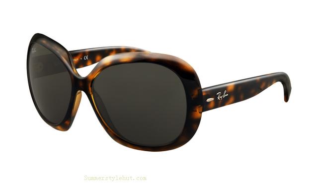 12.99 Ray Ban RB4098 Jackie Ohh II Sunglasses Black Frame Green ... 0591a34a21