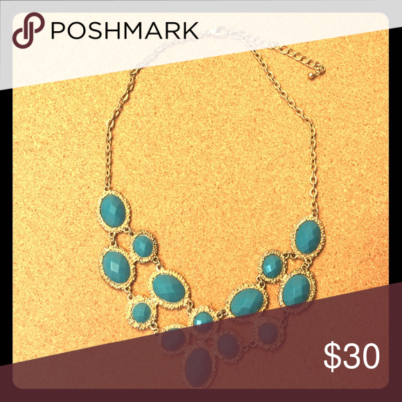 Blue and Gold Necklace Gold and blue medium-length necklace baublebar Jewelry Necklaces