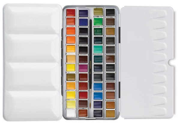 Sennelier L Aquarelle Watercolor Set 48 Half Pans My Favorite