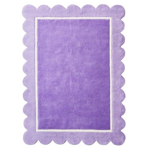Circo Scallop Rug Purple 4 X6 Lavender Nursery
