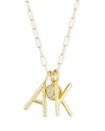 Sarah Chloe Amelia Layered Initial Necklace with Diamonds ItwmDG
