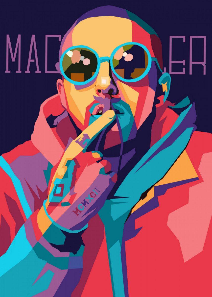 'Mac Miller' Metal Poster Print - Hafis Hafis | Displate in 2020 | Pop art posters, Poster ...