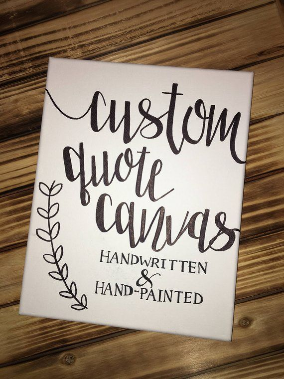 443de7ea11b4b Custom Quote Canvas Personalized Canvas Quote Art Wall Art Home ...