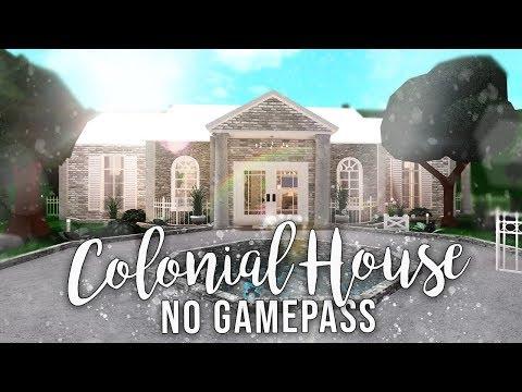 Roblox Bloxburg No Gamepasses Colonial House