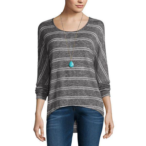 b2da0a369a Self Esteem 3 4 Sleeve Round Neck T-Shirt-Juniors - JCPenney ...
