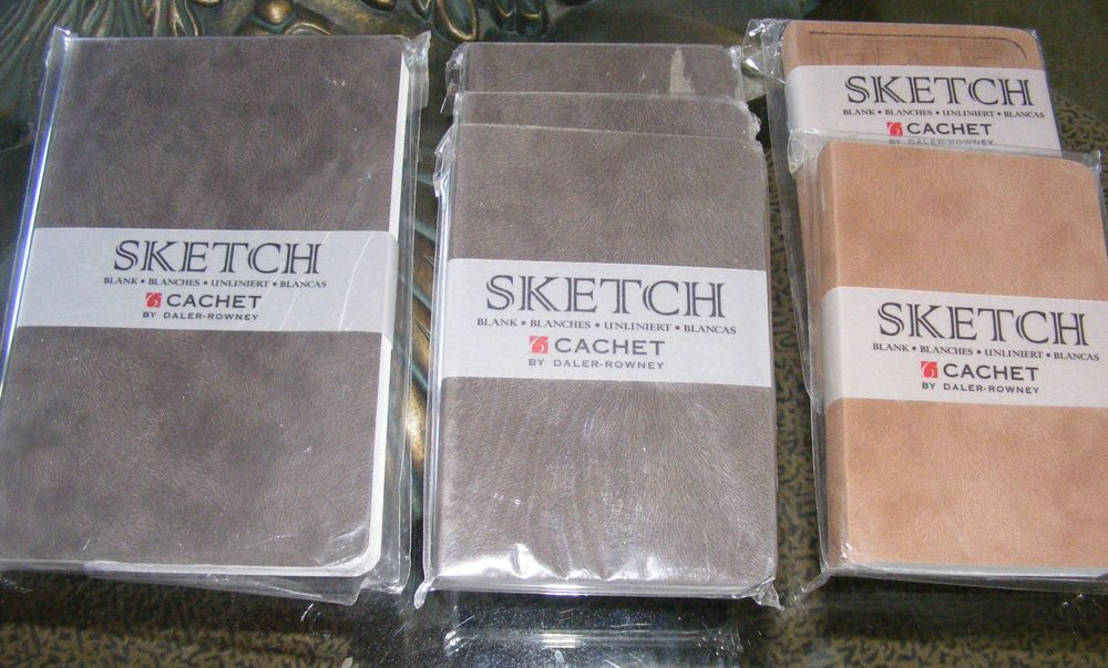 Set of 6 NEW CACHET Daler Rowney Sketchbooks 70lb 112 Unlined Sheets 224 pages #RiataCachetDalerRowney