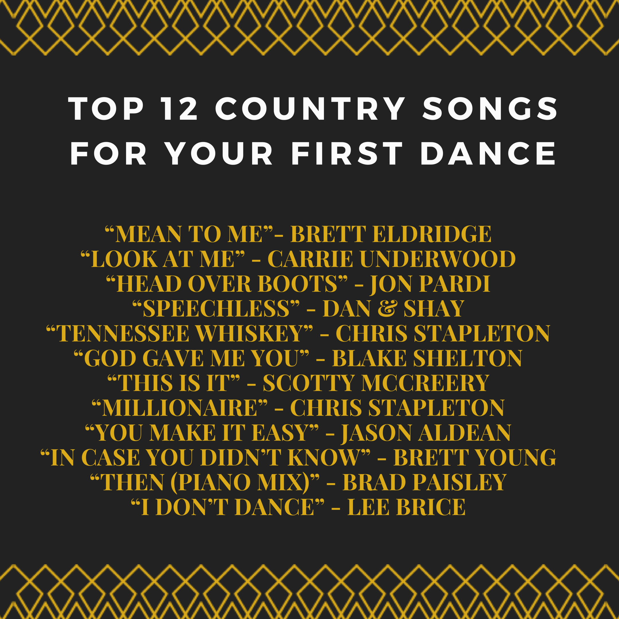Some Great Romantic Country Love Songs! Perfect For A