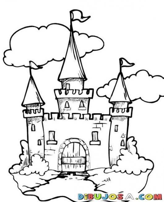 Castilo de Disney para Colorear | COLOREAR CASTILLOS | Dibujo d eun ...
