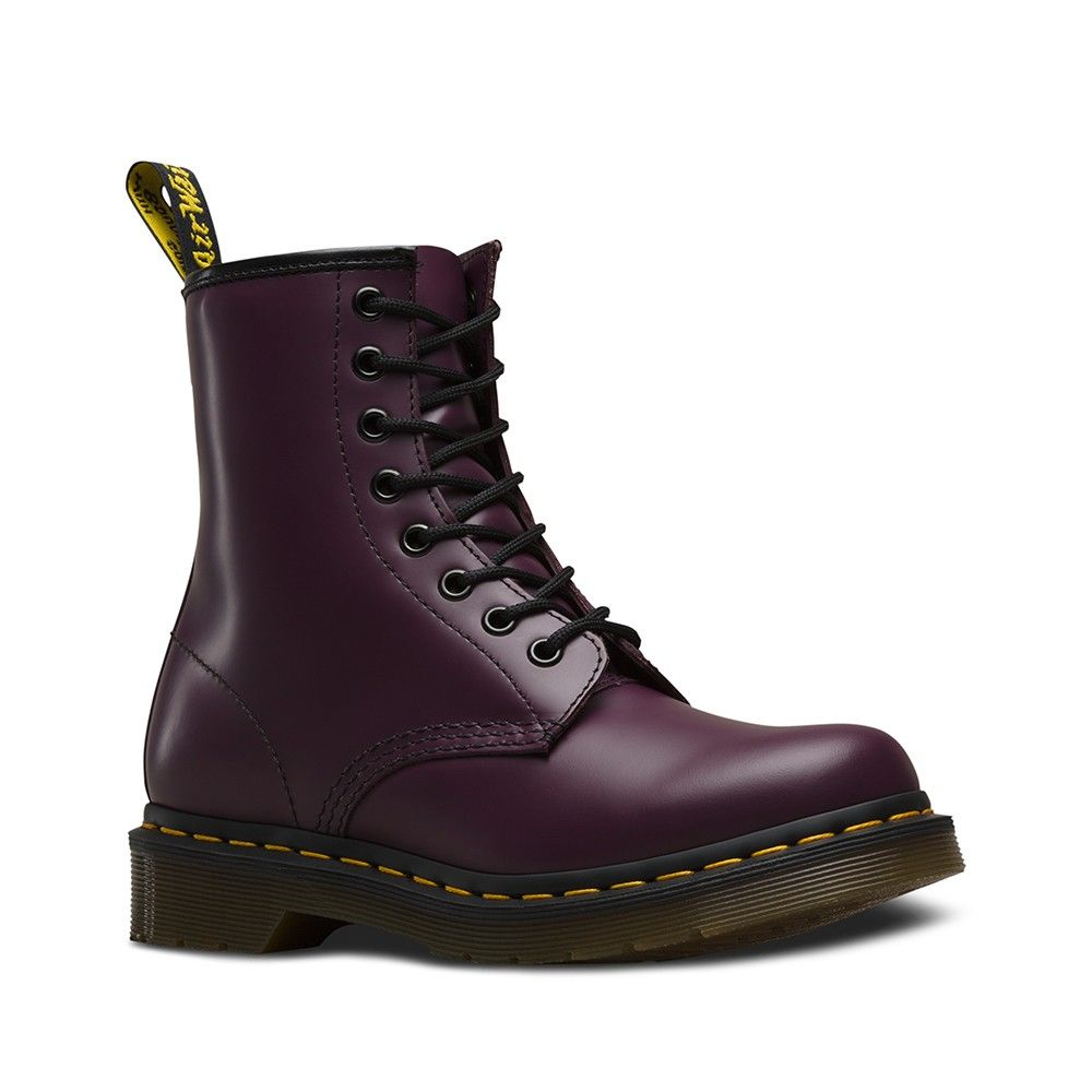 Purple Smooth up combat in 2019Lace DrMartens 1460 W in gIf6yvmYb7
