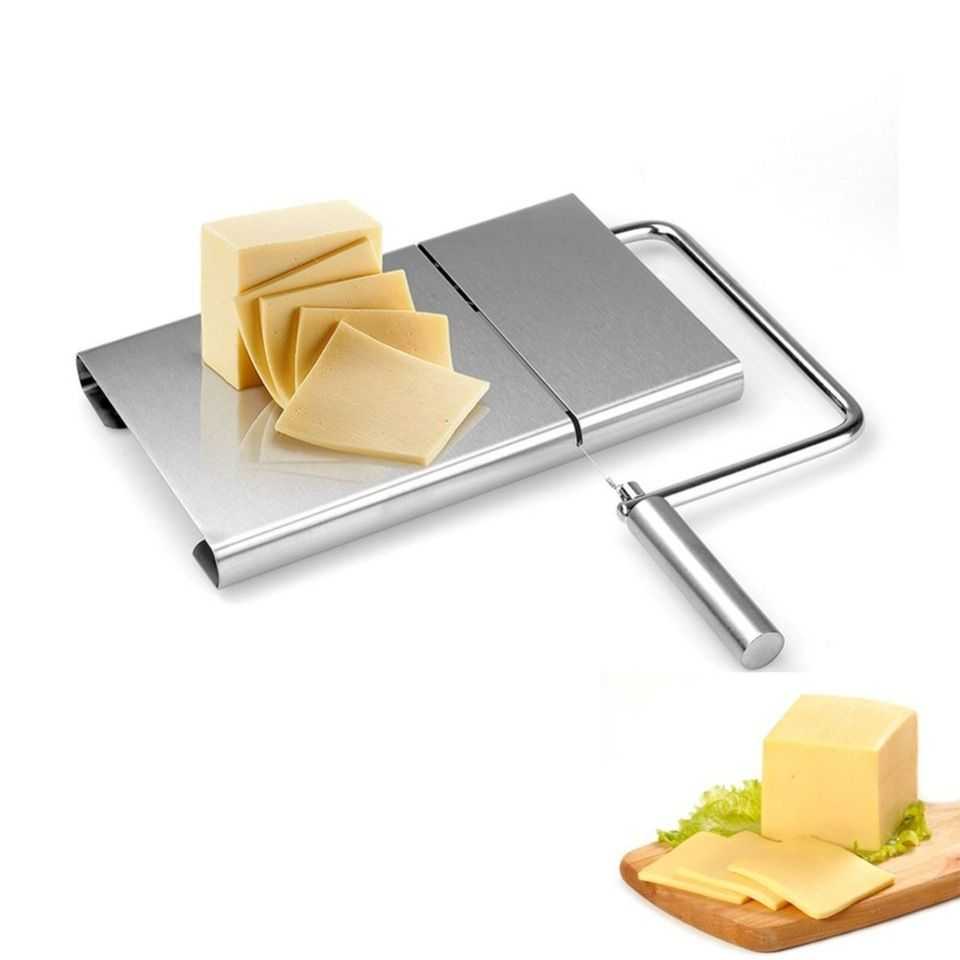 Stainless Steel Cheese Slicer with Replacement Wire Cheese Butter ...