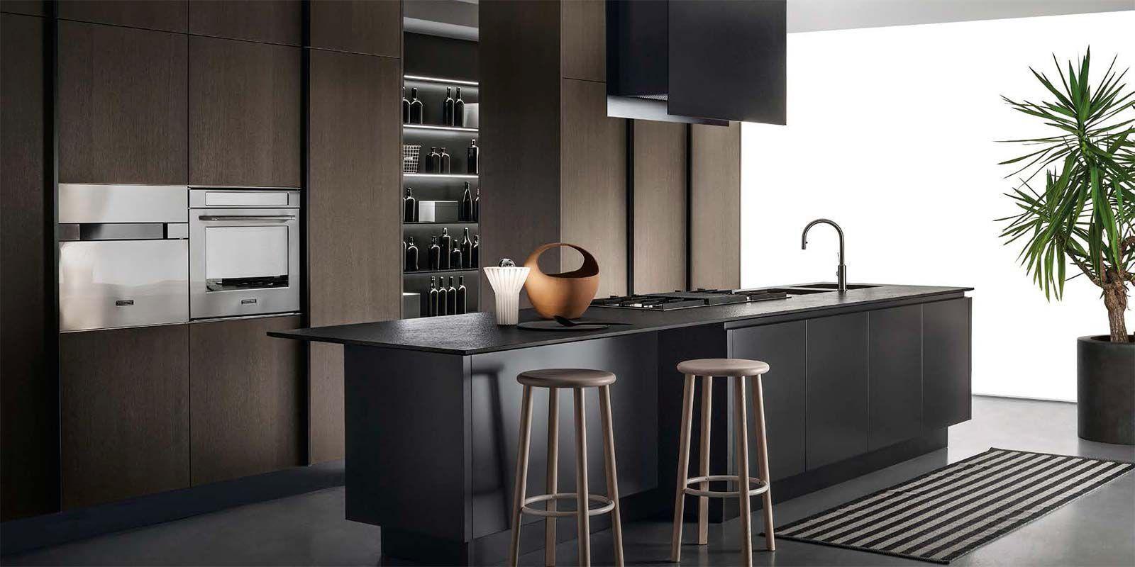 Cucina moderna / in legno / con isola / opaca - EMETRICA by ...