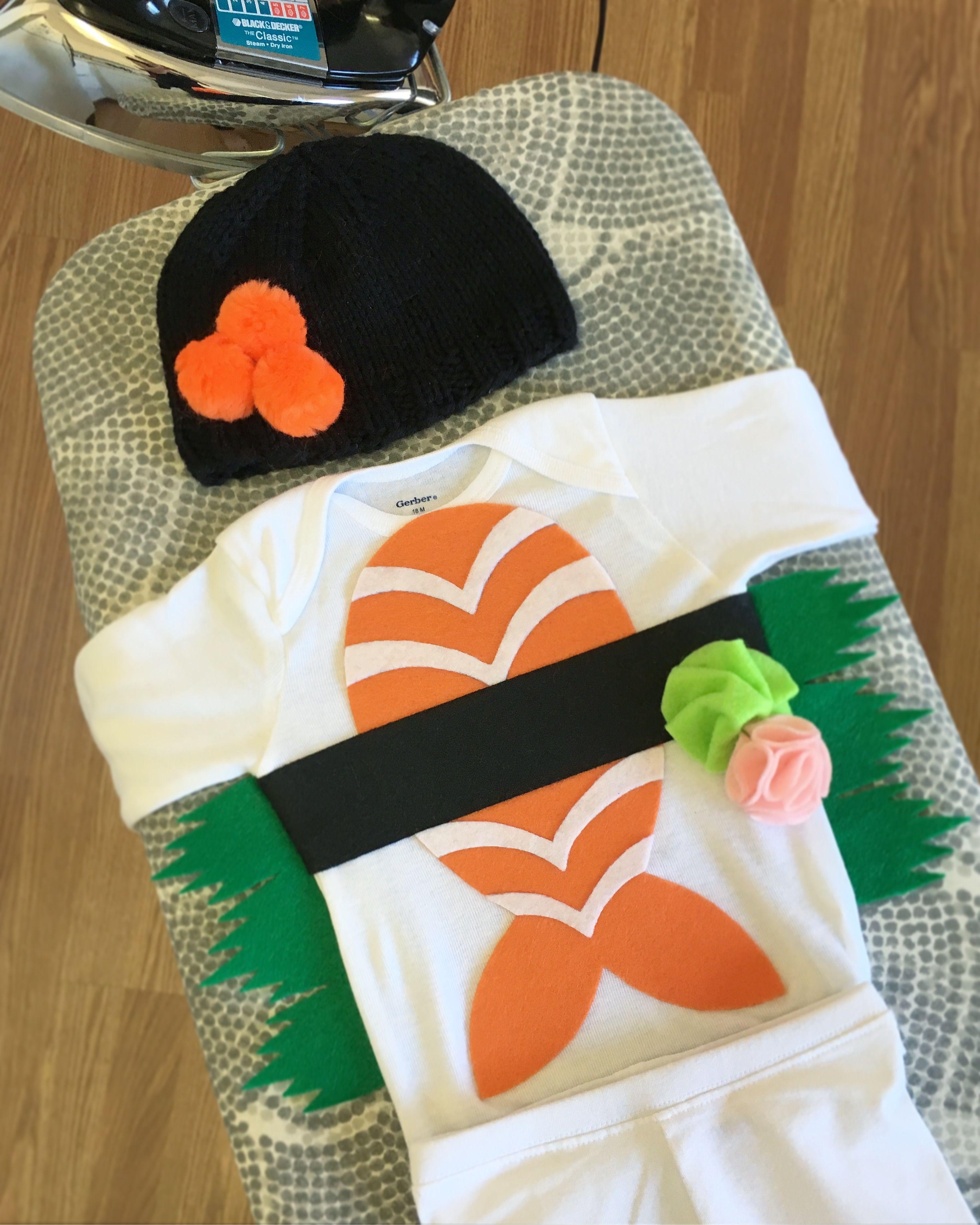 Diy baby sushi costume sushi halloween costume baby