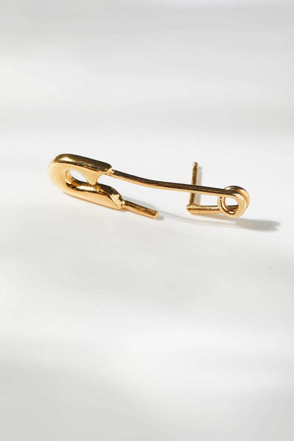Safety pin earring safety pin earrings gold plated