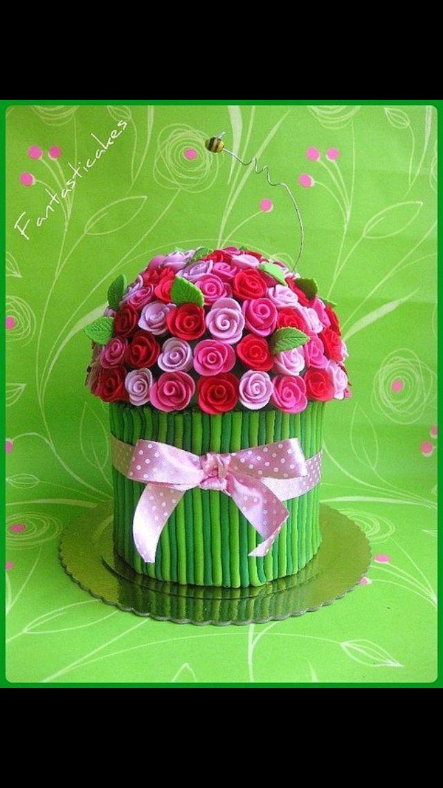 Bouquet flower cake | Cake | Pinterest | Bouquet flowers