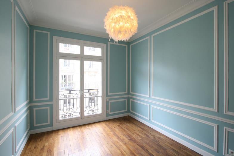 Pee Chambre Bleu Avec Moulure Alcmea Architectes