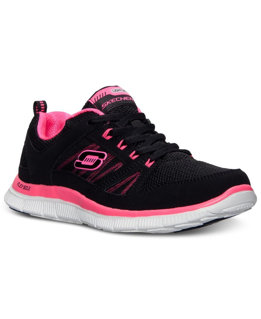 236e10c0ee18 Skechers Women s Flex Appeal-Spring Fever Memory Foam Running Sneakers from  Finish Line