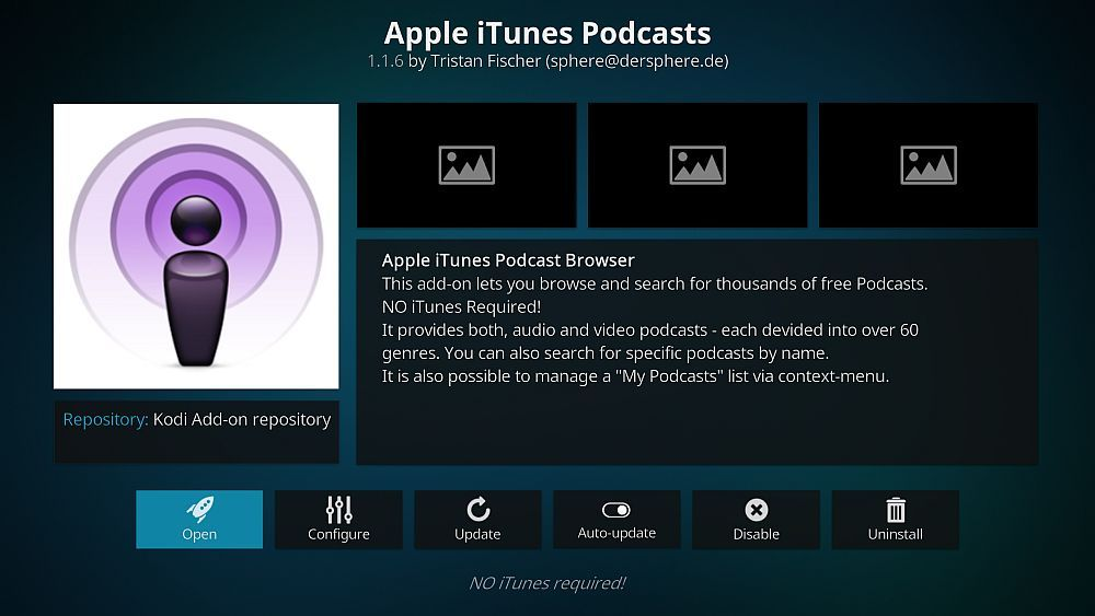 Listen to Podcasts On Kodi with the Apple iTunes Podcasts