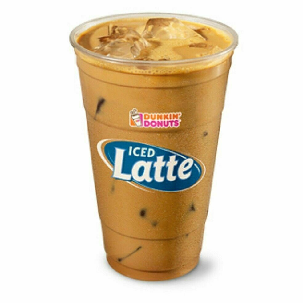 1 Dunkin Donuts Medium Hot Ice Latte Iced Lattes Coffees