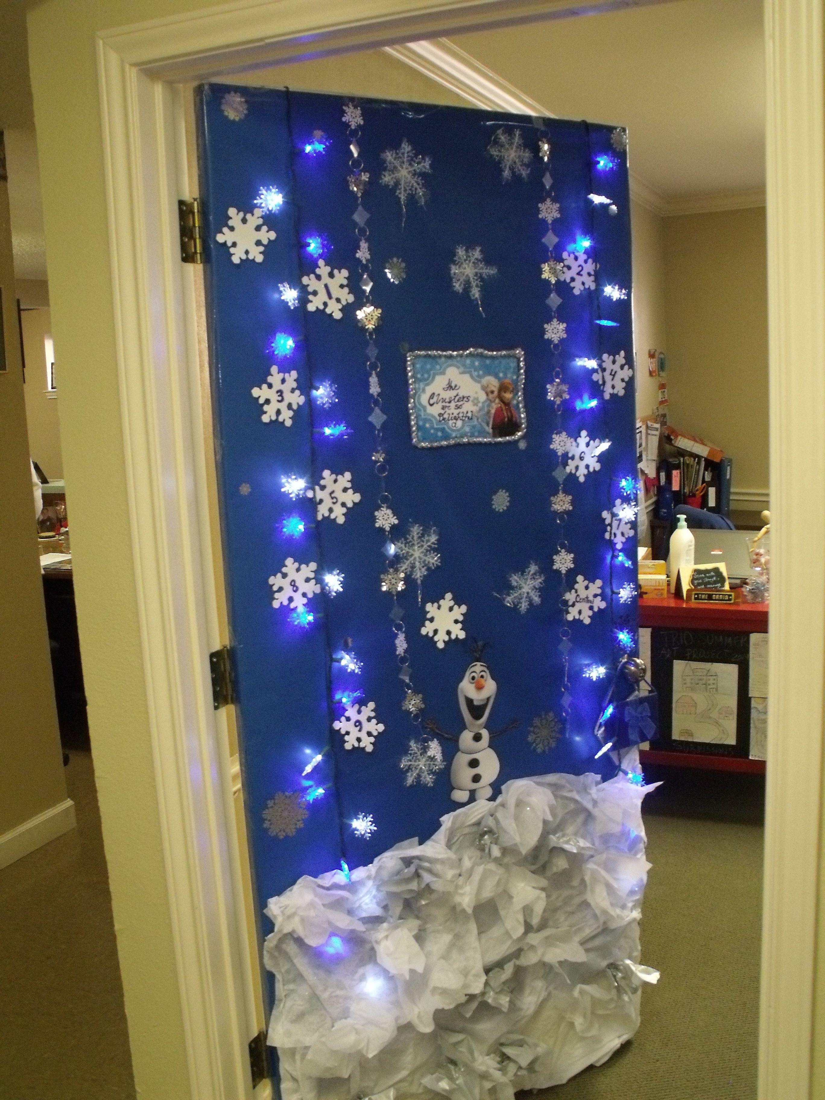 Holiday Door Decoration Frozen Inspiration Holiday Door