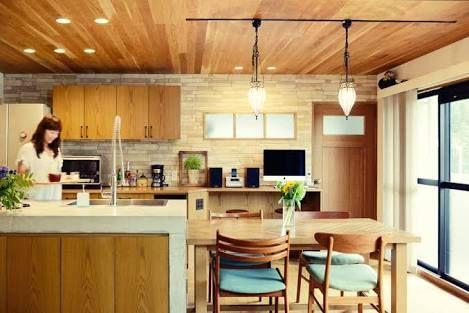 キッチン 天井 木目 の画像検索結果 和風の家の設計 リビング