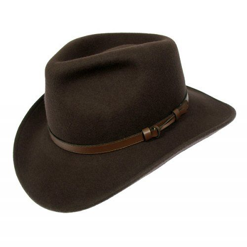 f95670331 Jaxon Hats Crushable Outback Hat, Brown, Large | My Mans Closet ...