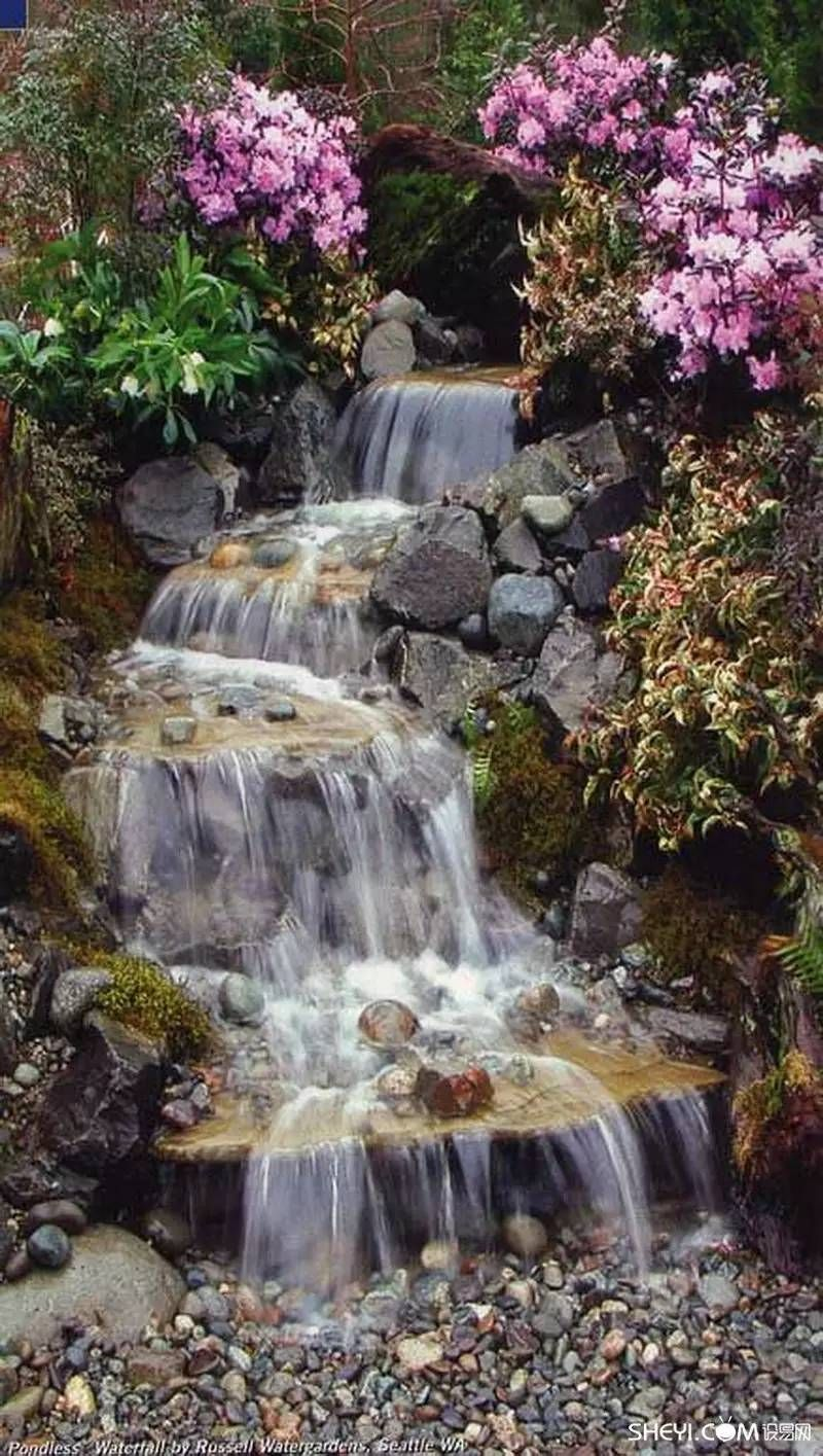 Magnificent Garden Waterfalls That Will Steal The Show Waterfalls Backyard Water Features In The Garden Garden Waterfall