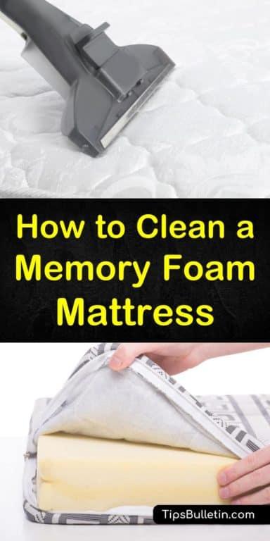 How To Clean A Memory Foam Mattress Memory Foam Mattress Foam Mattress Clean Memory Foam Mattress
