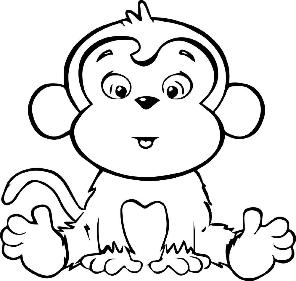 Easy And Hard Coloring Pages Of Monkeys 101 Activity Monkey Coloring Pages Cartoon Coloring Pages Cute Coloring Pages