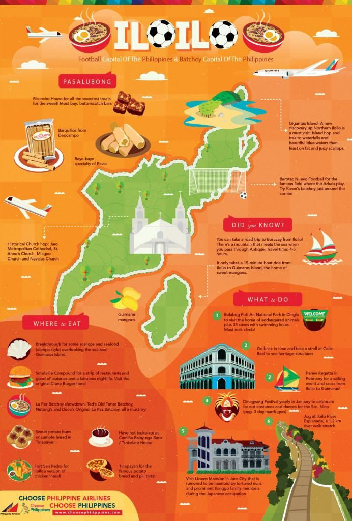 Here S A Quick Fun Guide For Your Iloilo Trip The Football Capital And The Batchoy Capital Of The Philippines Prepared By Choose Philippines In Partnership