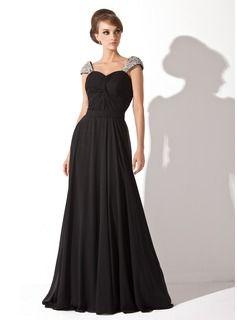 Vestidos de princesa / Formato Um Coração Tribunal Trem De chiffon Vestido de festa com Pregueado Bordado lantejoulas (017005826) - JJsHouse ...