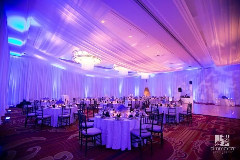 Wedding Uplighting, Pipe and Drape, Chiavaris Chairs and Lounge Furniture Rentals in MD, DC and VA